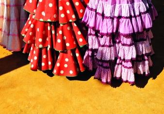 Trajes de gitana para la feria, Andaluca, Espaa